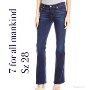 7 for all mankind short inseam bootcut jeans 28